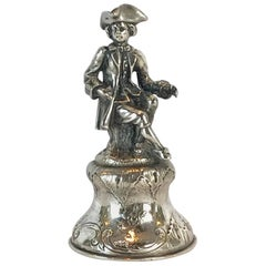 19th Century Continental Silver Figural Bell