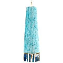 Magic Hanging Lamp, blue Gauze Strips, Double Face Silvered Glass