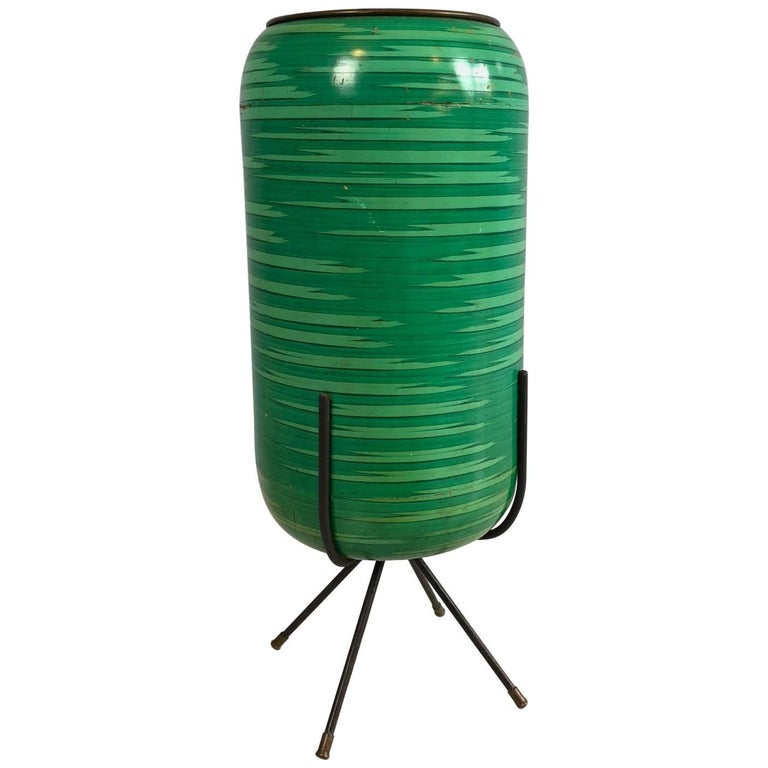 Enamelled Brass Umbrella Stand, Italy, 1960