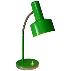 Midcentury Green Metal Articulated Lamp 1960s Design