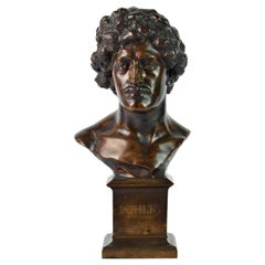 Bronzebust of American Pianist Richard Buhlig by British Sculptor Hibbert Binney