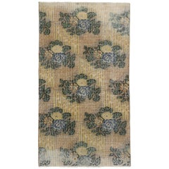 Distressed Vintage Turkish Sivas Rug with Rustic French Country Cottage Style