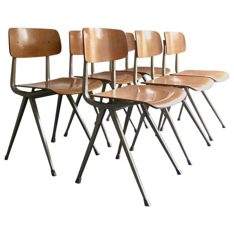 Set of Six First Series Result Chairs by Friso Kramer, Netherlands