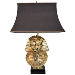 Maison Jansen for Deknudt Pharaoh Table Lamp, Hollywood Regency, circa 1970