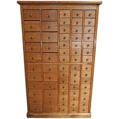 English Oak Apothecary Cabinet, 1900s