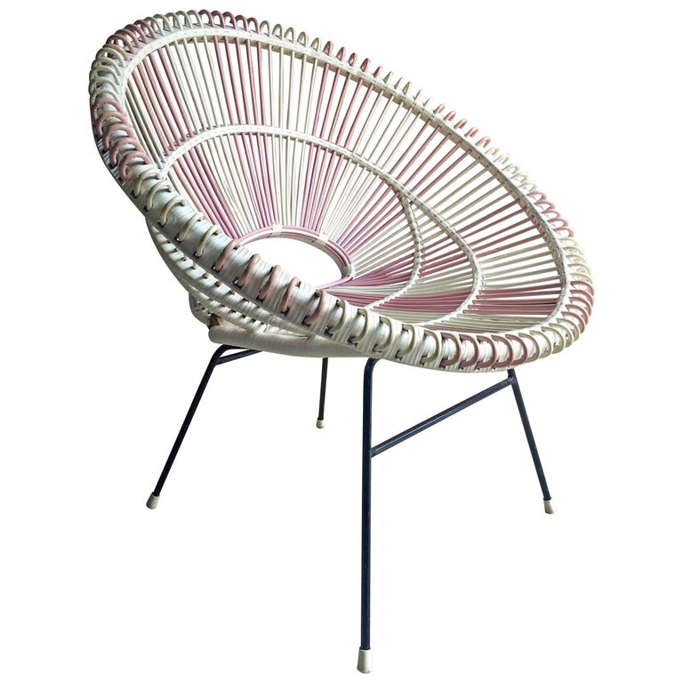 Solitaire Rattan Chair by Janine Abraham and Dirk Jan Rol France, 1950s