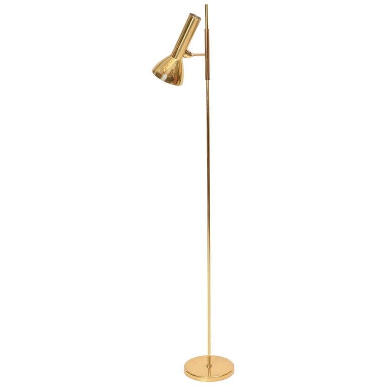 Articulated Brass Floor Lamp
