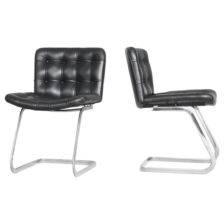 Swiss Leather RH-304 Chairs by Robert Haussmann for De Sede, 1960s, Set of Two
