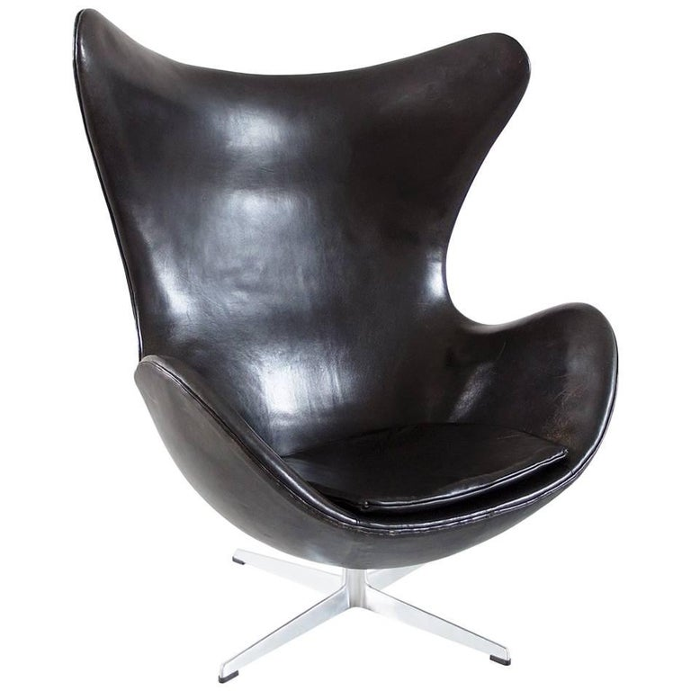 Egg Chair by Arne Jacobsen for Fritz Hansen Original Early Edition, Denmark
