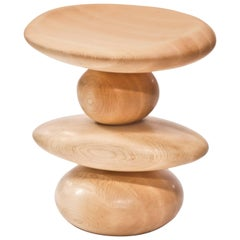 Cairn Stool in Maple by Alvaro Uribe for Wooda