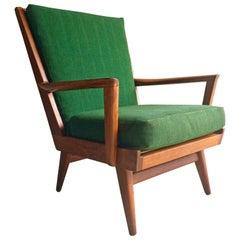 Danish Teak Armchair Lounge Chair Midcentury 1950s Scandinavian Style