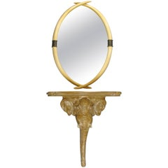Elephant Console Table and Tusk Mirror by Chapman