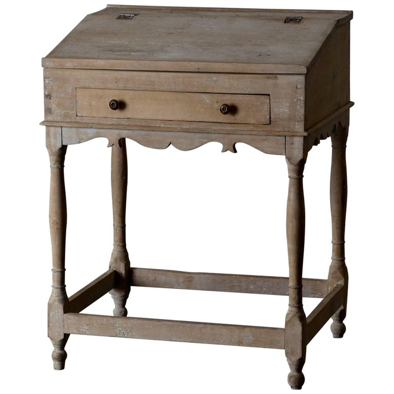 Wiring Desk Swedish 19th Century Original Paint Sweden For