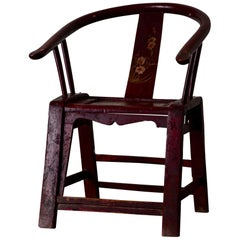 Armchair Red Horseshoe Chair 19th Century China