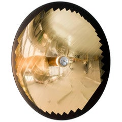 Mini Hatchlight Reflective Wall Light in Brass and Laminated Polyester
