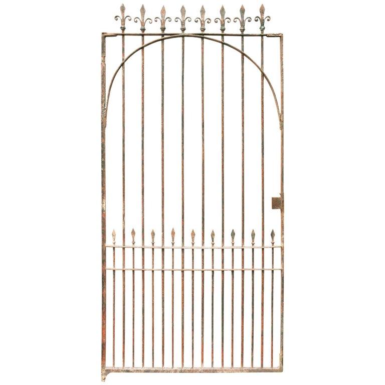 19th Century English Wrought Iron Pedestrian Gate