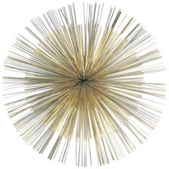 Large Brass Starburst Wall Hanging by Curtis Jere
