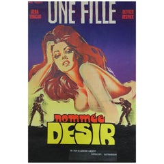 """Une Fille Nommee Desir"" Movie Film Poster by C Belinsk 1973 Cover Girl"