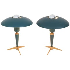 Pair of Tripod Desk Lamps by Louis Kalff for Philips, 1950s
