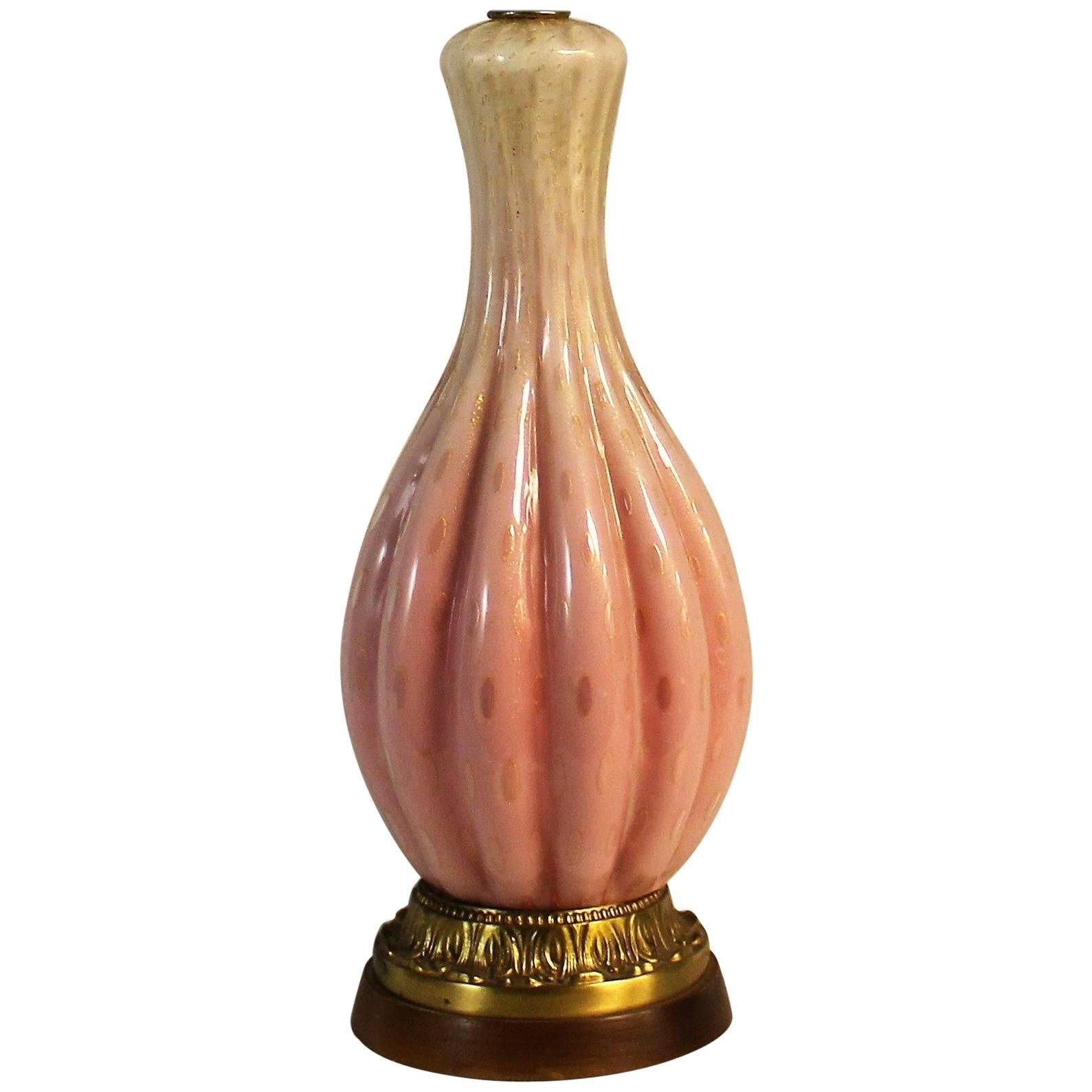 Alfredo Barbini Murano Glass Table Lamp