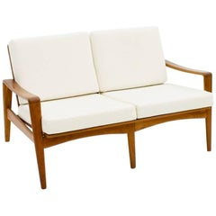 Two Person Teak Wood Sofa Bench by Arne Wahl Iversen, 1960s