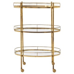 Brass Three-Tier Bar Cart