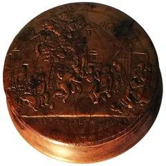 18th Century Walnut Wooden Snuffbox
