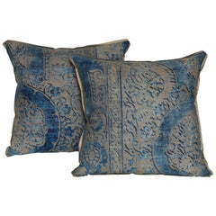 Pair of Fortuny Fabric Cushions in the Nicolo Pattern