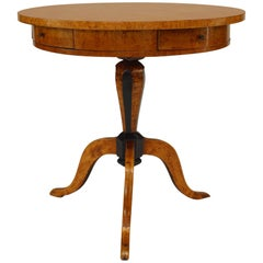 Swedish Biedermeier '19th Century' Karelian Birch End Table