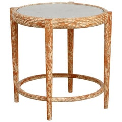 Midcentury Italian Faux Bois Carved Occasional Table