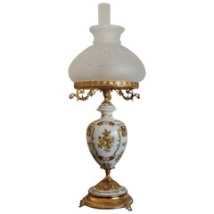 Large Vintage Italian Hand-Painted Porcelain Vase Table Lamp, circa 1960