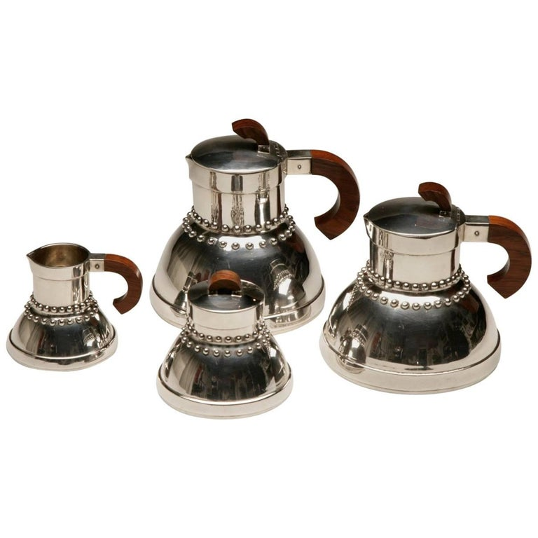 Jean Puiforcat Sterling Silver Tea and Coffee Service For Sale
