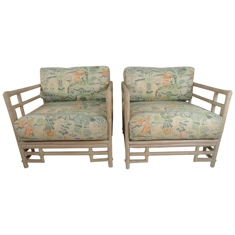 Pair of Ficks Reed Armchairs