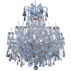 Large Swarovski Crystal Chandelier with 24 Lights