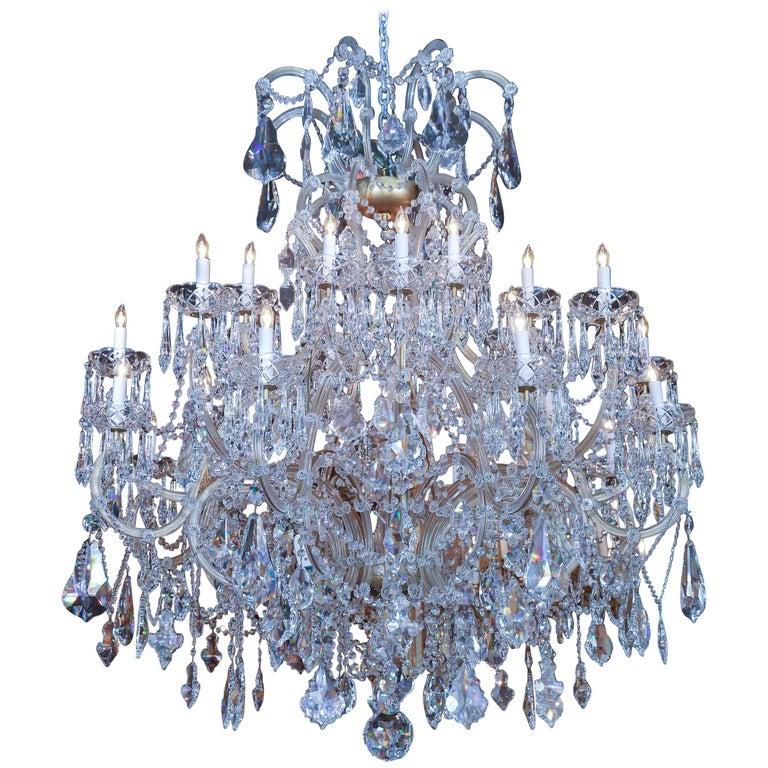 swarovski crystal lighting flush mount ceiling large swarovski crystal chandelier with 24 lights for sale at 1stdibs