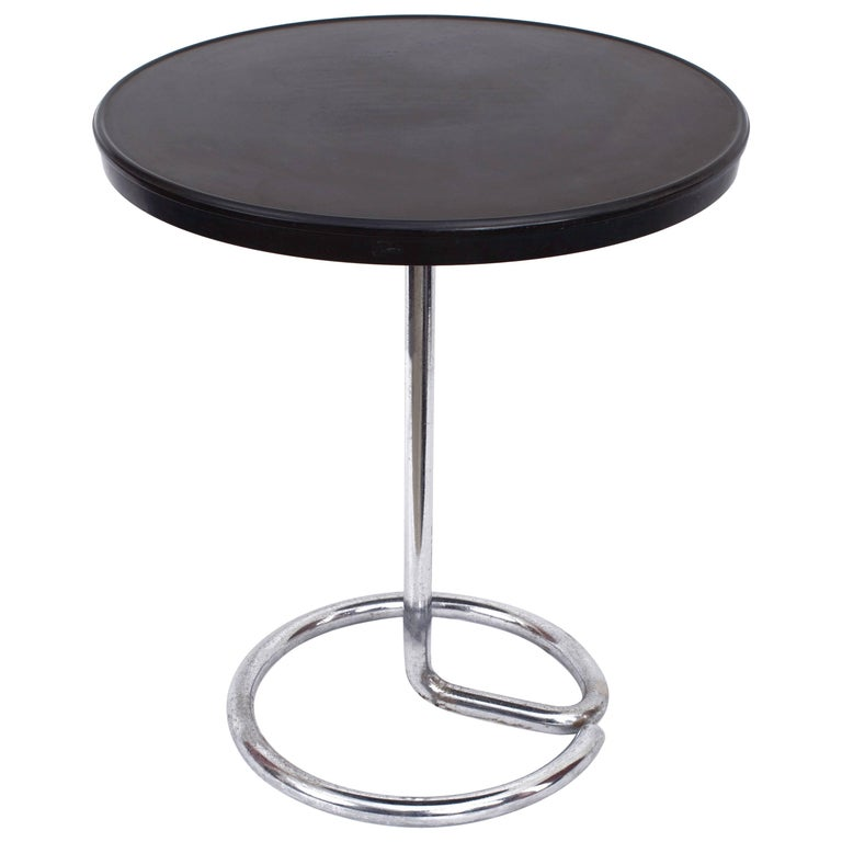 Minimalist Bakelite and Steel Table by Stablet, France, 1930s