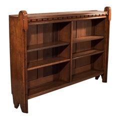 Antique Bookcase English, Oak, Victorian Book Shelf, Ecclesiastical, circa 1850