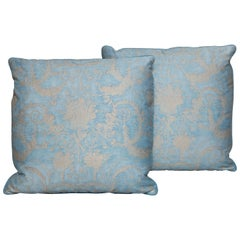 Pair of Fortuny Fabric Cushions in the Festoni Pattern