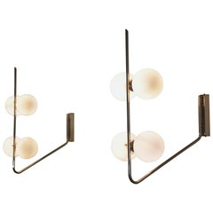 Pair of Italian Midcentury Wall Lights Attributed to Stilnovo