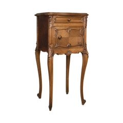 Antique Bedside Cabinet, French 19th Century, Marble-Top Pot Cupboard
