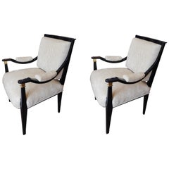 Pair of Rare Midcentury Italian Custom Chairs