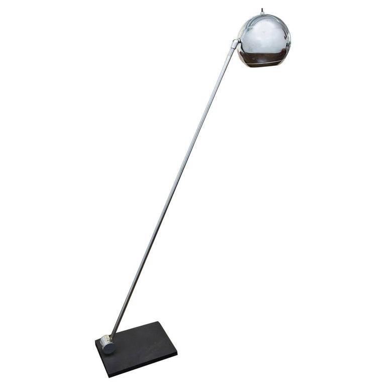 Robert Sonneman for Kovacs Chrome Eyeball Floor Lamp