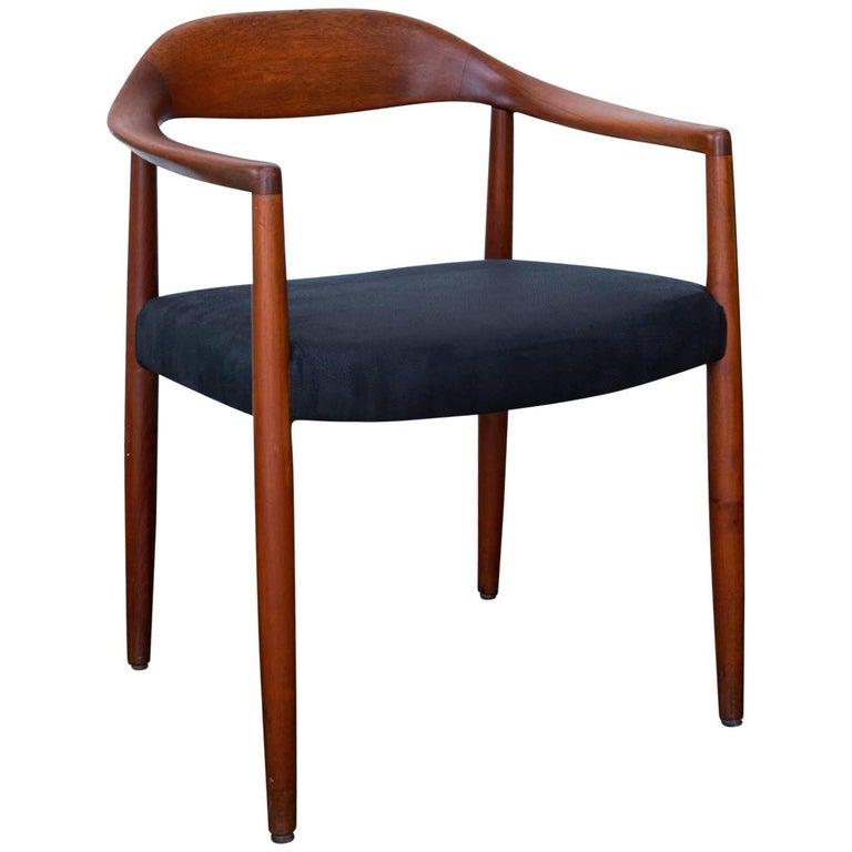 Hans Wegner Round Chair Style Teak Armchair For Sale