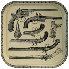 Pistol Tray Attributed to Piero Fornasetti
