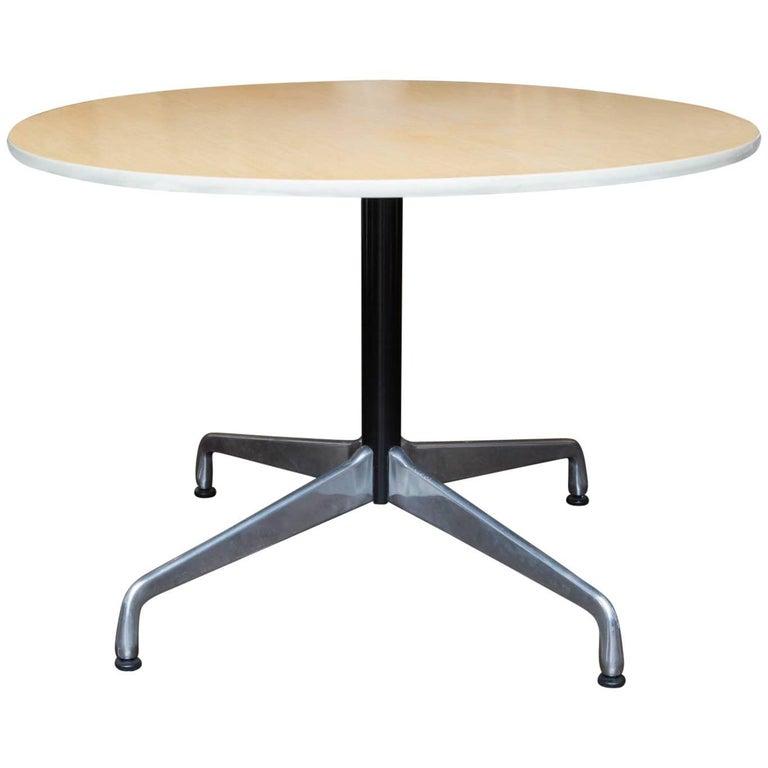 Herman Miller Round Aluminum Group Table