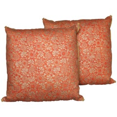 Pair of Fortuny Fabric Cushions in the Irani Pattern