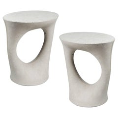Pair of Grey Short Kreten Side Tables from Souda, Made to Order