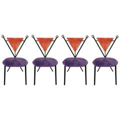 Set of Four Postmodern Dining Chairs