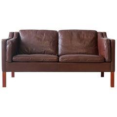 Børge Mogensen #2212 Fredericia Leather Sofa/Loveseat Danish Modern Vintage