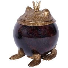Bronze and Penshell Small Frog Box